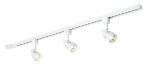 Gloss white & white abs plastic tracklight 48024 by Endon